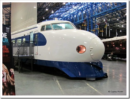 The Japanese Shinkasen HST donated to the NRM.