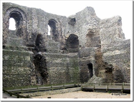 Inside Canterbury Castle which had a circular stiarway between floors.