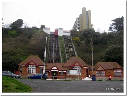 Leas cliff lift at Folkestone. Built 1885.
