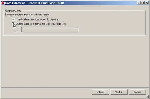 6 - choose output