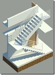rendered stair