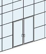 curtain wall door