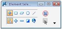 MicroStation element selection tool settings