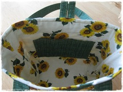 Inside of Sunflower Purse