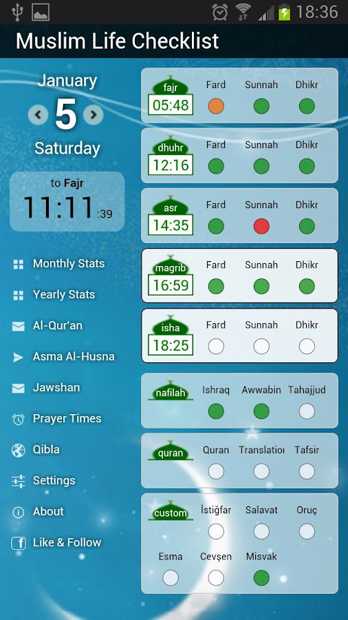 Muslim Life Checklist- screenshot