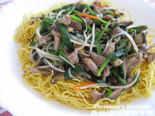 Cantonese Fried Noodle with Shredded Pork02