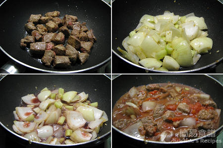 法式紅酒燉牛肉製作圖 Steak & Red Wine Casserole Procedures