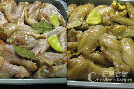 焗檸蜜雞翼製作圖 Baked Chicken Wings with Honey & Lemon Procedures