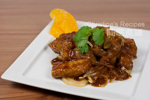 焦糖洋蔥燴香橙肉排 Orange Pork Ribs with Caramelized Onion02