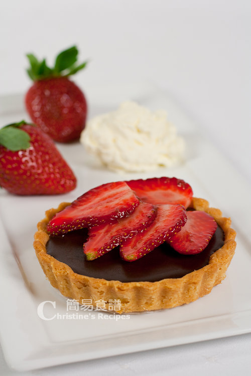 草莓朱古力撻 Chocolate Strawberry Tarts01