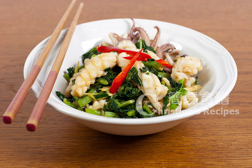 雪菜炒鮮魷 Stir-fried Squid with Salted Vegetable02