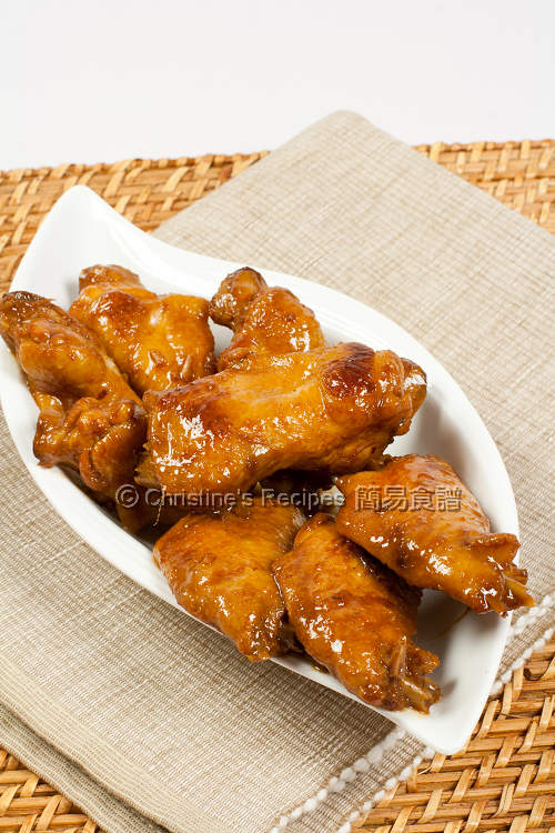 Chicken Wings with Red-Fermented Beancurd