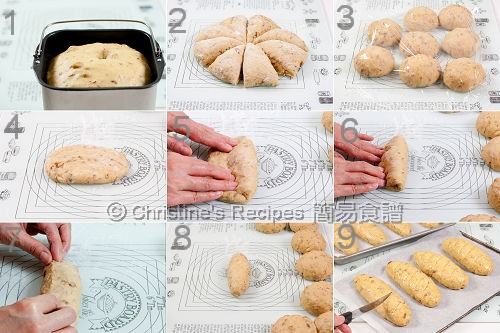提子核桃麵包製作圖 Raisin Walnut Bread Procedures