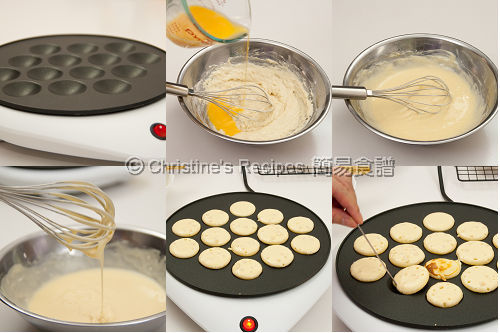 荷蘭雞蛋仔製作圖 Dutch Pancakes (Poffertjes) Procedures
