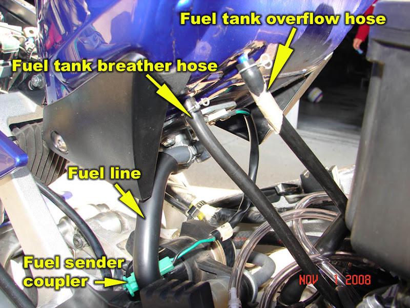 how to 98 01 r1 remove fuel tank airbox carburetors and. Black Bedroom Furniture Sets. Home Design Ideas
