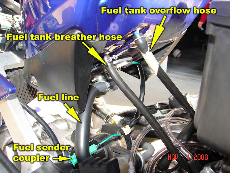 how to: 98-01 r1 remove fuel tank, airbox, carburetors and cam chain  tensioner - yamaha r1 forum: yzf-r1 forums