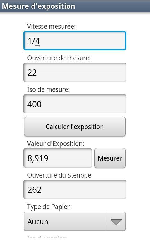 PinholeCalculator- screenshot