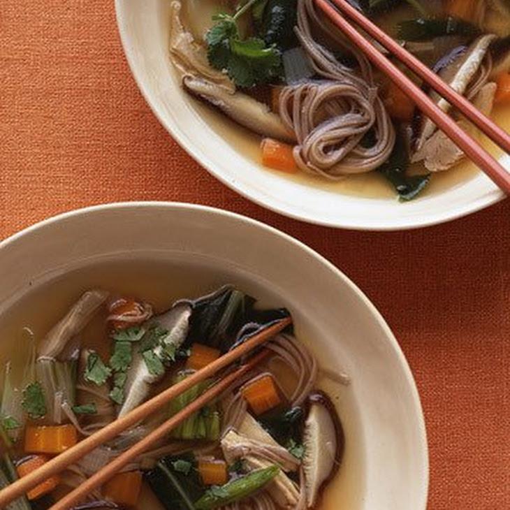 Lemongrass Chicken Soba Noodle Soup