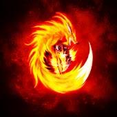 3D Fire Wolf