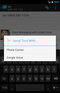 Google Voice Messaging - screenshot thumbnail