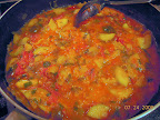 ratatouille - homegrown tomatoes, zucchini, eggplant, pepper, dill, basil