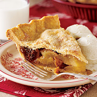 Pear and Dried Fig Pie.