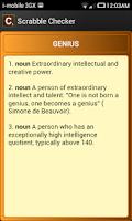Screenshot of Scrabble Checker
