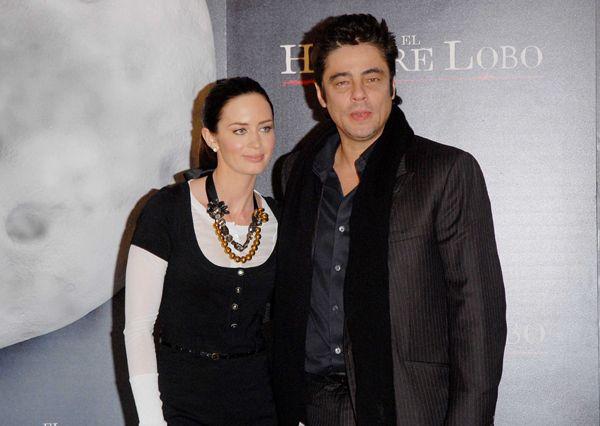 Benicio del Toro y Emily Blunt, estuvieron ayer en Madrid, para la presentación de 'El Hombre Lobo'