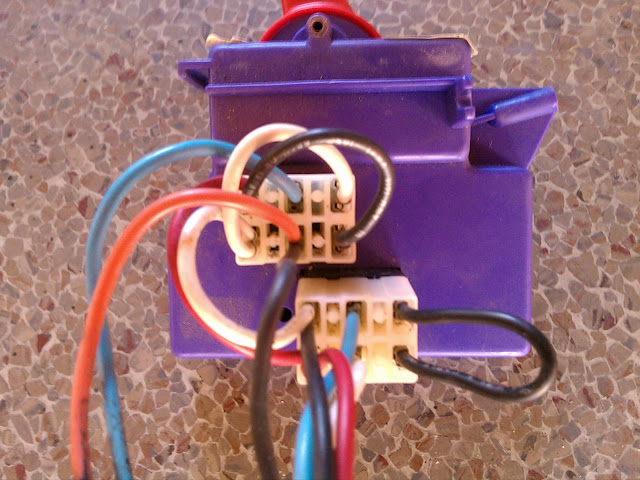12v power wheels shifter from bottom, with wiring harness attached