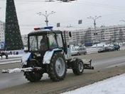ГАИ на тракторе
