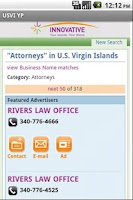 Screenshot of USVI YP