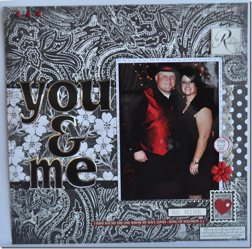 YOU AND ME 12X12 SCRAPBOOKING PAGE 1
