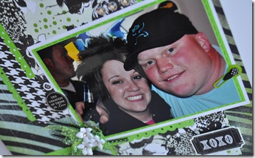 GREEN AND BLACK 12X12 SCRAPBOOKING PAGE 1