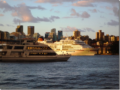 Cruise ship Sydney harbour