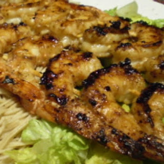 Grilled Asian Shrimp with Tamari Salad and Shrimp Noodles Recipe