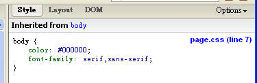 側邊欄 CSS 設定值