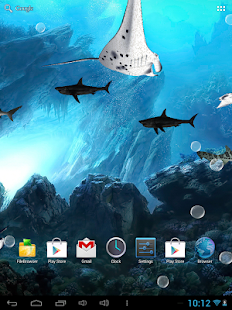 玩個人化App|3D Sharks Live Wallpaper Free免費|APP試玩