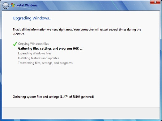 Windows 7 - Upgrading from 32-bit Beta to RC