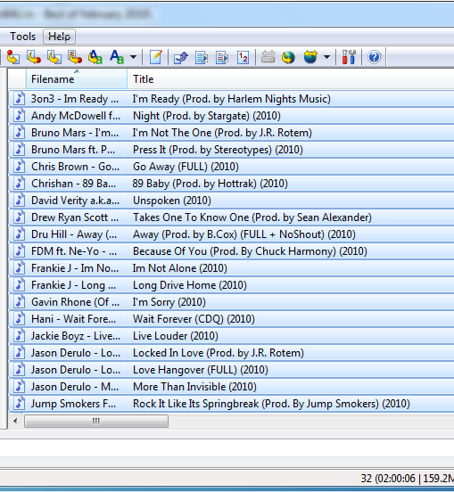 Correctly tagged MP3 files