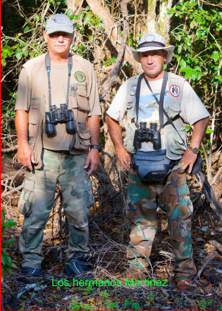 Hermanos Martínez en el Parque Nacional Ciénaga de Zapata