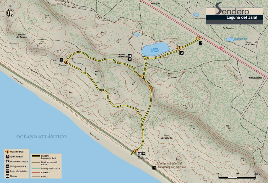 Mapa de LAguna del Jaral  en Doñana