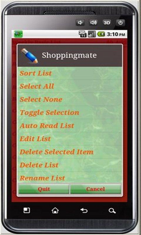 Shoppingmate Android- screenshot
