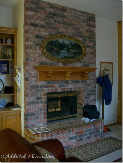 A painted brick fireplace a winner and addicts not so - What temperature can you paint outside ...