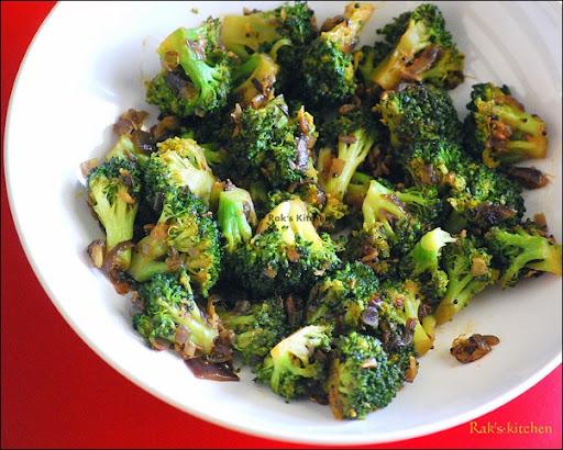 Broccoli Stir Fry Recipe Indian Style Raks Kitchen Indian