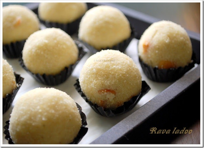 Rava ladoo recipe how to make rava urundai raks kitchen forumfinder Image collections