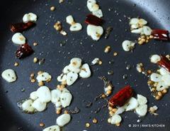 Tadka and garlic