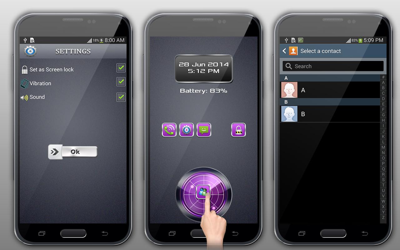 Finger Drag Screen Lock - screenshot