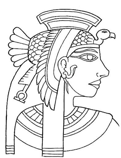 cleopatra egyptian coloring pages - photo#15