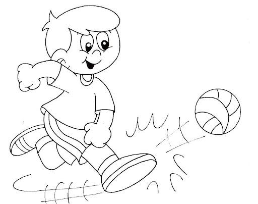 Dibujo De Jugando A Fútbol Para Colorear: Pinto Dibujos: Jugando Futbol Para Colorear