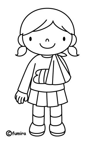 with broken arm free coloring pages coloring pages